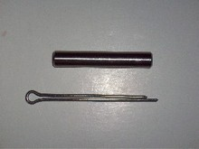 Outboard shear pin